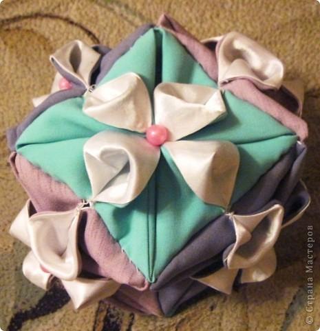 Такой оригами-кубик из ткани у меня сегодня получился! фото 13