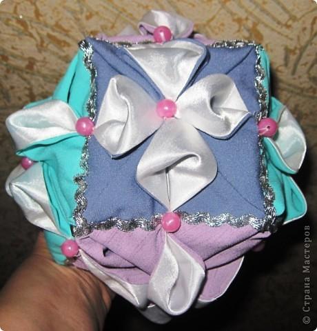 Такой оригами-кубик из ткани у меня сегодня получился! фото 1