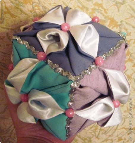 Такой оригами-кубик из ткани у меня сегодня получился! фото 14