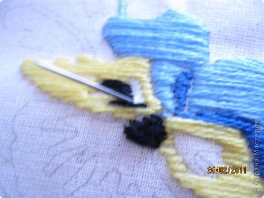 """Вот такая вышивка! У меня вышивка гладью. Мама купила в """"Здоровом малыше"""" набор по вышиванию гладью. И мне вдруг приспичило сделать МК по глади. фото 11"""