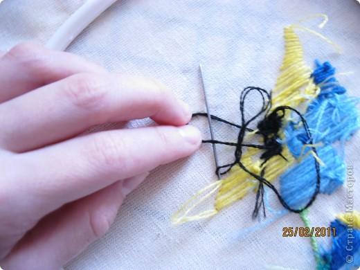 """Вот такая вышивка! У меня вышивка гладью. Мама купила в """"Здоровом малыше"""" набор по вышиванию гладью. И мне вдруг приспичило сделать МК по глади. фото 20"""