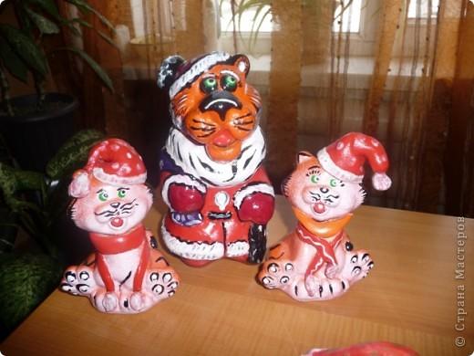 Керамика роспись Тигрята фото 3