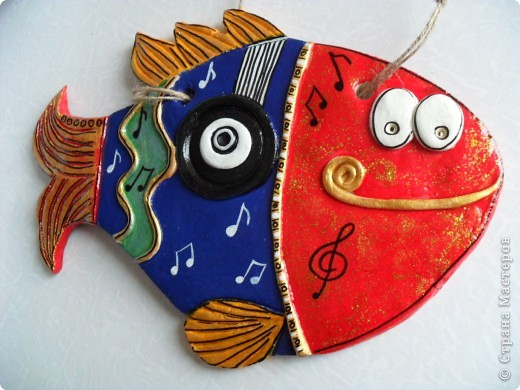 Большое спасибо Надежде Керн за идею,очень выручила(рыба для учителя по музыке)!Спасибо,рыба получилась СУПЕРРРР!!!! фото 1