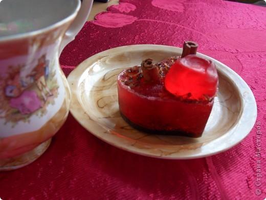 "Мыло 2Вишня в шоколаде"" с какао, корицей, эм корицы, маслом жожоба, ароматизатор косметический вишня фото 1"