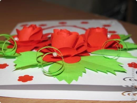 Ещё  одна открытка к дню рождения! С розами. фото 3