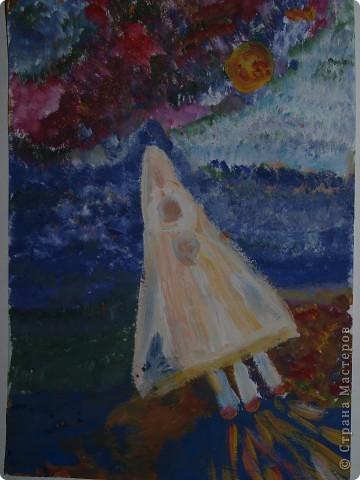 """Юные художницы """"отправили"""" свои корабли  в космические путешествия, к далёким планетам. Влада Козарева (7 л) создала """"Длиннолёт""""  фото 2"""