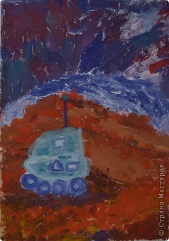 """Юные художницы """"отправили"""" свои корабли  в космические путешествия, к далёким планетам. Влада Козарева (7 л) создала """"Длиннолёт""""  фото 4"""