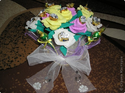 Букет роз с сюрпризом на День Рождения фото 1