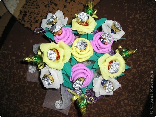 Букет роз с сюрпризом на День Рождения фото 2