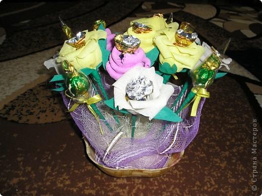Букет роз с сюрпризом на День Рождения фото 3