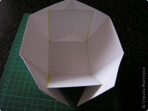 Берём квадрат необходимого размера и делим его на 9 квадратов. Разрезаем по жёлтым линиям.  фото 2