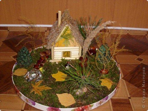 Поделка в детский сад Осенний и зимний варианты фото 1