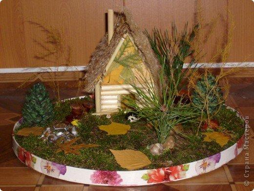 Поделка в детский сад Осенний и зимний варианты фото 2