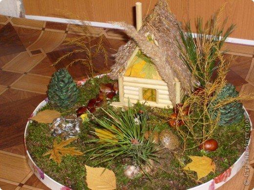 Поделка в детский сад Осенний и зимний варианты фото 3