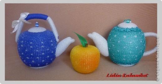 Сделать чайнички можно любые от миниатюрных до больших. Кому что нравится. фото 1