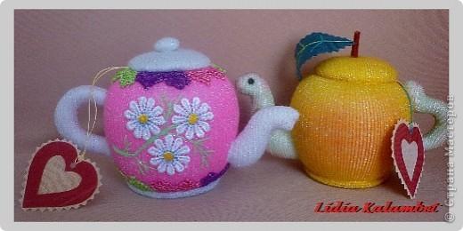 Сделать чайнички можно любые от миниатюрных до больших. Кому что нравится. фото 20