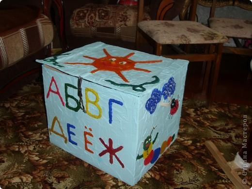 Нужна была коробка для игрушек,но захотелось сделать не просто коробку,а развивалку и обучалку. фото 1