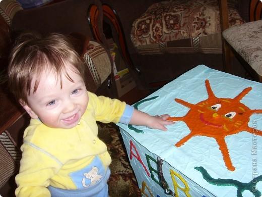 Нужна была коробка для игрушек,но захотелось сделать не просто коробку,а развивалку и обучалку. фото 3