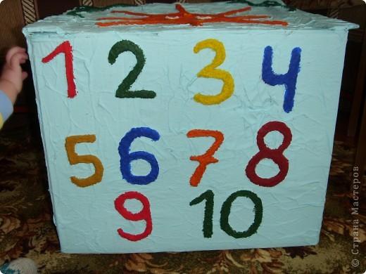 Нужна была коробка для игрушек,но захотелось сделать не просто коробку,а развивалку и обучалку. фото 5