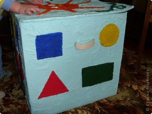 Нужна была коробка для игрушек,но захотелось сделать не просто коробку,а развивалку и обучалку. фото 6