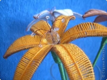 Лилии в технике ганутель.  фото 1