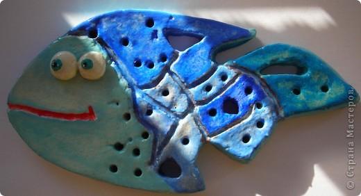Рыбка. В голубых тонах. Конечно, я воспользовалась образцами жителей страны Мастеров. Спасибо! фото 1