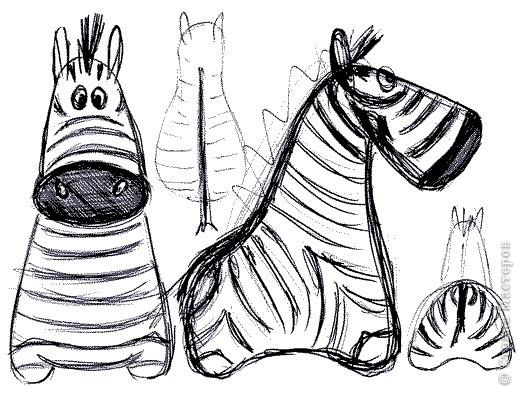 Дебют в мукосольках! Первым делом сделала этого полосатика, мне нравиться зебры, они такие полосааатые! :) фото 4