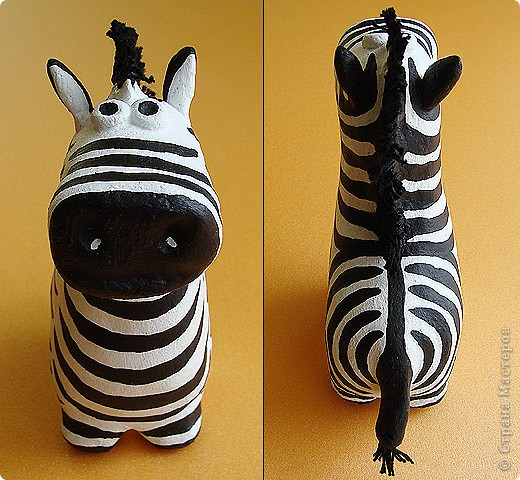 Дебют в мукосольках! Первым делом сделала этого полосатика, мне нравиться зебры, они такие полосааатые! :) фото 2
