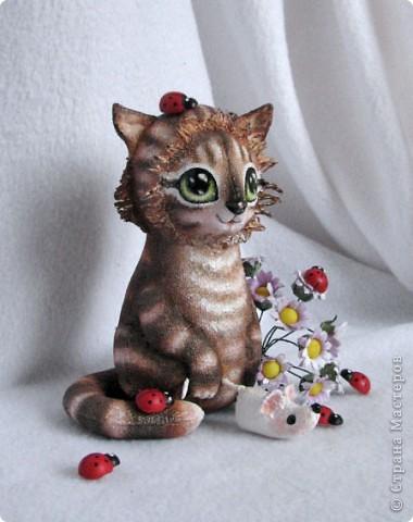 Вот какая хитрюжечка у меня получилась))) Думаю, мышку  она так и не подарит мышку, что-то придумает)))  фото 3