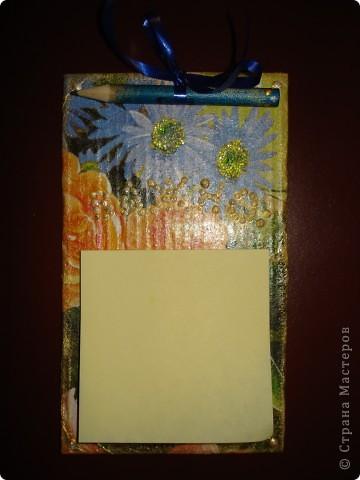 Рамка для фотогоафии и блокнот для записей на холодильник фото 3