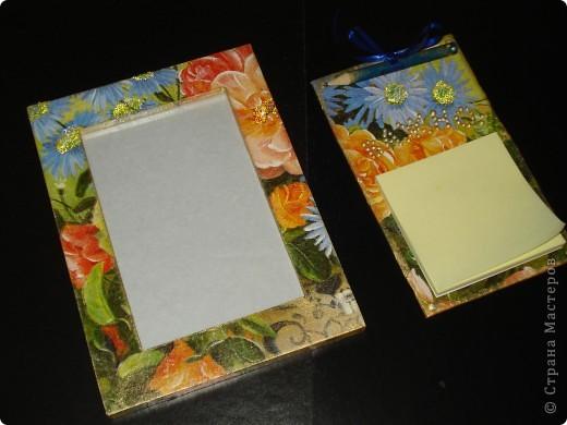 Рамка для фотогоафии и блокнот для записей на холодильник фото 1