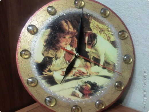 Часики. Одношаговый декупаж. фото 1