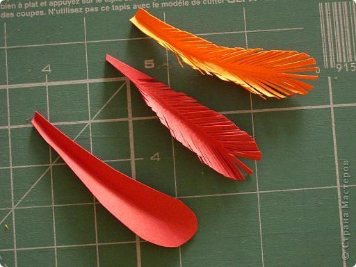 Вот такую птицу -жар мы сделали на курсах.Идея принадлежит нашему руководителю Гринько Ларисе Анатольевне.Я думаю,что это хороший подарок себе на  8 марта.Размер 30 на 45 см. фото 4