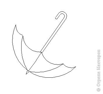 Так как не нашла в просторах Интернета красивого зонтика, пришлось рисовать его самой в программе КОМПАС, если кому надо, могу выложить картинку))) фото 4
