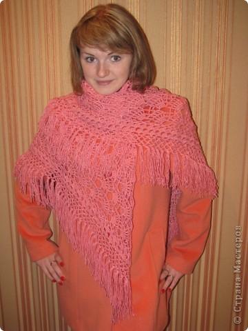 Первая созданная мной шаль! фото 1