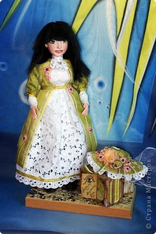 Вот наконец-то у меня поселилась куколка Марийки Андриенко))) Знакомьтесь - Элина))). Девушка с характером и большими зелеными глазами. фото 1