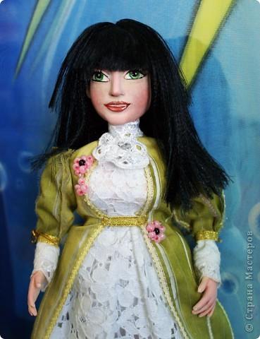 Вот наконец-то у меня поселилась куколка Марийки Андриенко))) Знакомьтесь - Элина))). Девушка с характером и большими зелеными глазами. фото 8