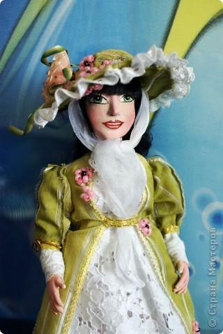 Вот наконец-то у меня поселилась куколка Марийки Андриенко))) Знакомьтесь - Элина))). Девушка с характером и большими зелеными глазами. фото 11
