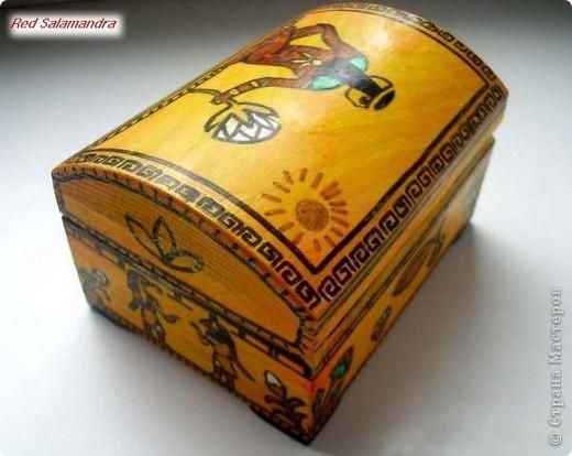 Египетская шкатулка фото 2