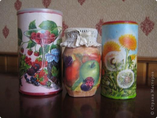 Решила приукрасить мои баночки в которых храню травки для чая. фото 1