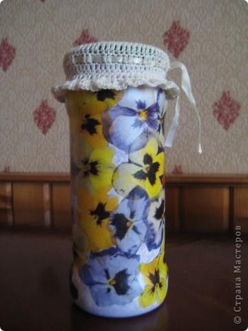 Решила приукрасить мои баночки в которых храню травки для чая. фото 10