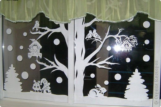 Украшение Новый год Вырезание Новый год в школе Бумага фото 5