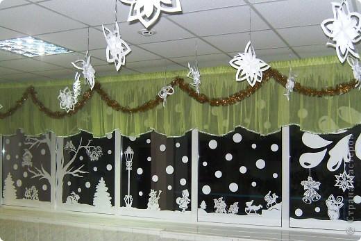 Украшение Новый год Вырезание Новый год в школе Бумага фото 10