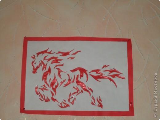 Вырезалка-повторялка Огненный конь