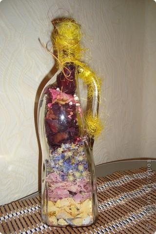 Насмотрелась на африканские бутылки и яичное кракле и загрелось... Вот что из этого вышло. Выбор салфеток на эту тему у меня  не велик, всего одна)))). Бутылку сделала по заказу коллеги по работе. Завтра покажу ей, надеюсь не разочарую. фото 5
