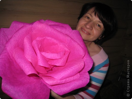 Давно собиралась сделать гигантскую розу, наконец то собралась)))) фото 2
