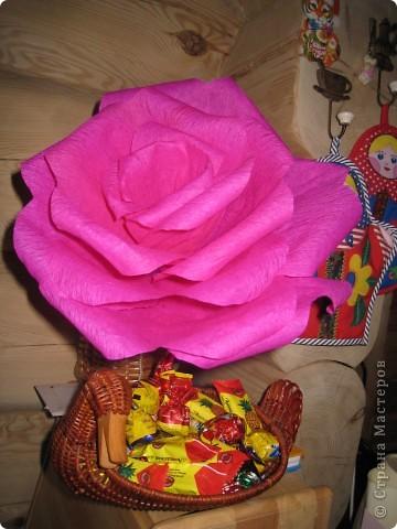 Давно собиралась сделать гигантскую розу, наконец то собралась)))) фото 1