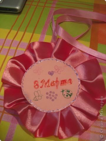Вот такую открытку-медальку можно сделать на 8 марта! фото 1
