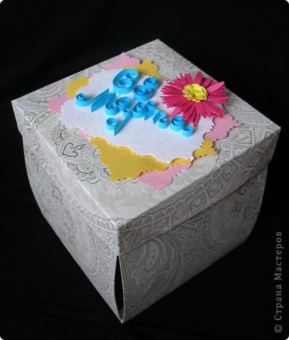 Идею увидела у Lusien http://stranamasterov.ru/node/149750?c=favorite. Очень понравилось, захотелось сделать такой подарочек для подруги. По-моему, получилось неплохо. Только квилинг никак не поддается. Но здесь что-то даже оформилось. фото 3