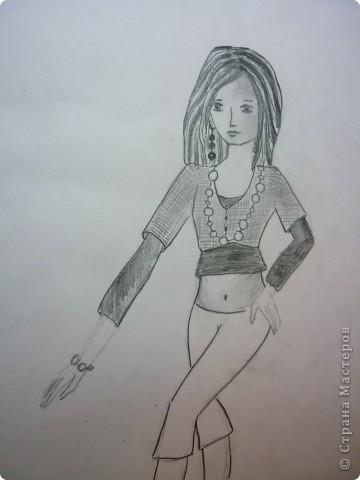 Вот такую девушку мы будем рисовать фото 11